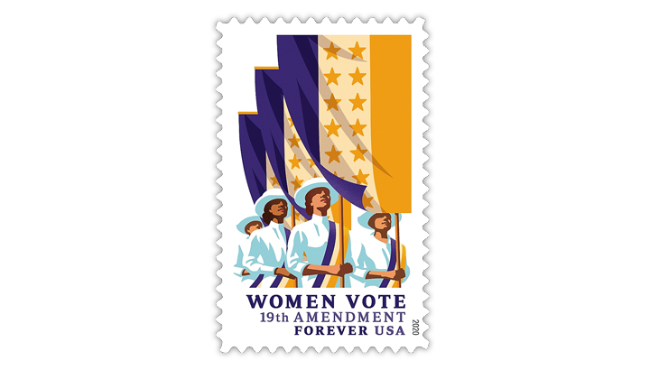 Forever Religious Christmas Stamps 2020 New issue date chosen for Women Vote forever stamp
