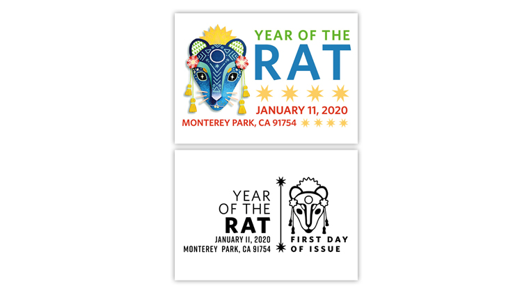 united-states-2020-year-of-the-rat-first-day-postmarks