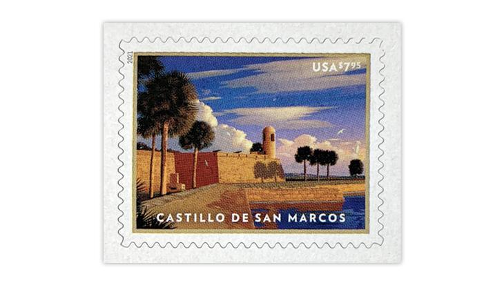 united-states-2021-castillo-de-san-marcos-priority-mail-envelope-imprinted-stamp