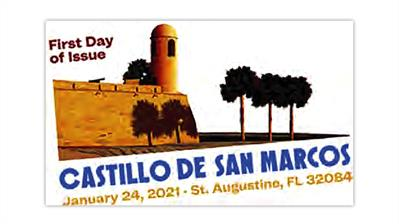 united-states-2021-castillo-de-san-marcos-priority-mail-pictorial-postmark