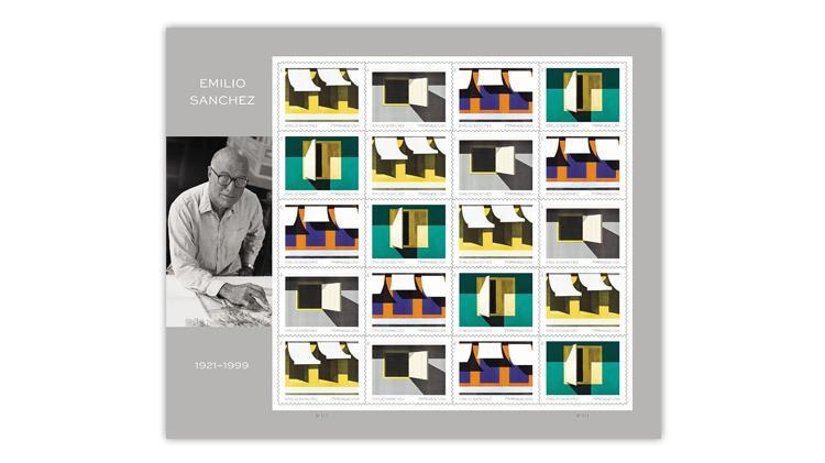 united-states-2021-emilio-sanchez-stamps-pane