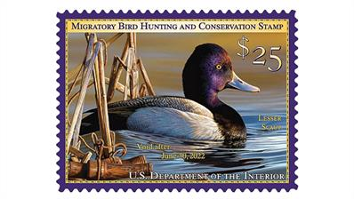 united-states-2021-lesser-scaup-federal-duck-stamp