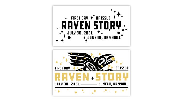 united-states-2021-raven-story-stamp-first-day-postmarks