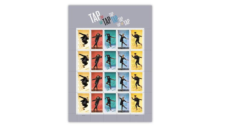 united-states-2021-tap-dance-stamps-pane