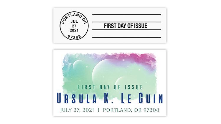 united-states-2021-ursula-k-leguin-stamp-first-day-postmarks