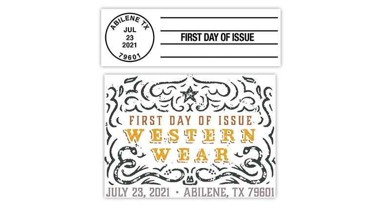 united-states-2021-western-wear-stamps-first-day-postmarks