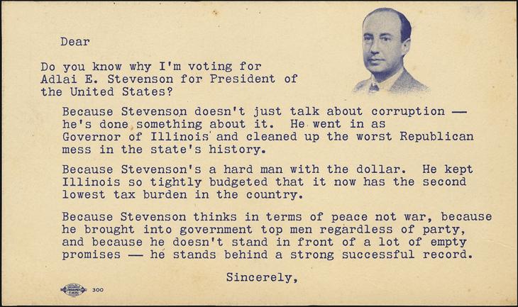 united-states-adlai-stevenson-1952-presidential-campaign-endorsement-postcard