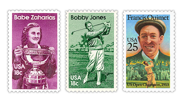 united-states-babe-zaharias-bobby-jones-francis-ouimet-stamps