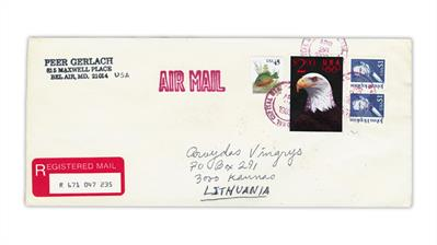 united-states-bald-eagle-priority-mail-stamp-cover-kaunas-lithuania