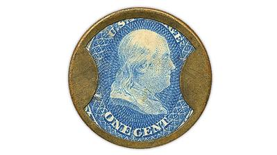 united-states-benjamin-franklin-encased-postage-stamp