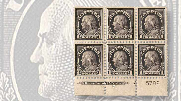 united-states-benjamin-franklin-plate-block-regency-superior-auction