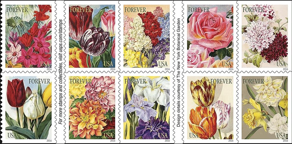 united-states-botanical-art-stamps-2016