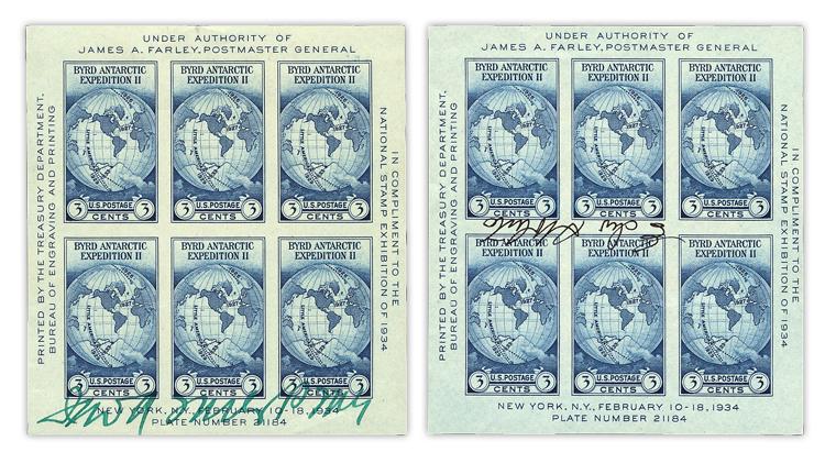 united-states-byrd-antarctic-souvenir-sheet-farley-edward-signatures