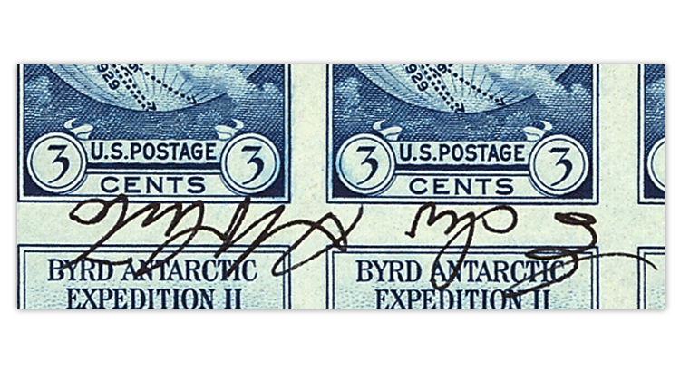 united-states-byrd-antarctic-souvenir-sheet-signature-close-up