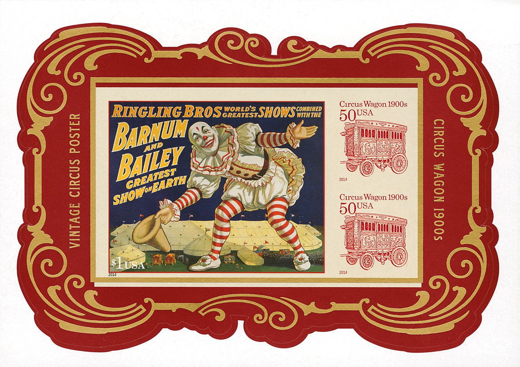 united-states-circus-souvenir-sheet-gold-color-shift