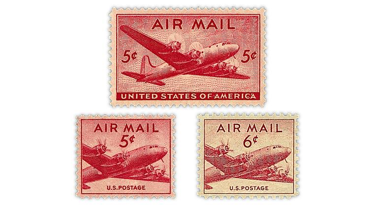 united-states-dc-4-skymaster-airmail-stamps