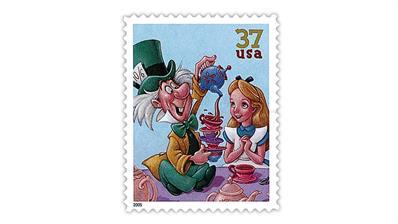 united-states-disney-art-mad-hatter-alice-stamp