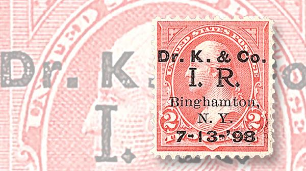 united-states-dr-kilmer-private-die-proprietary-revenue-stamp
