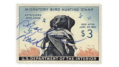 united-states-duck-stamp-herschel-held-baseball-signature
