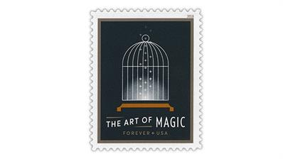 united-states-empty-bird-cage-art-of-magic-stamp
