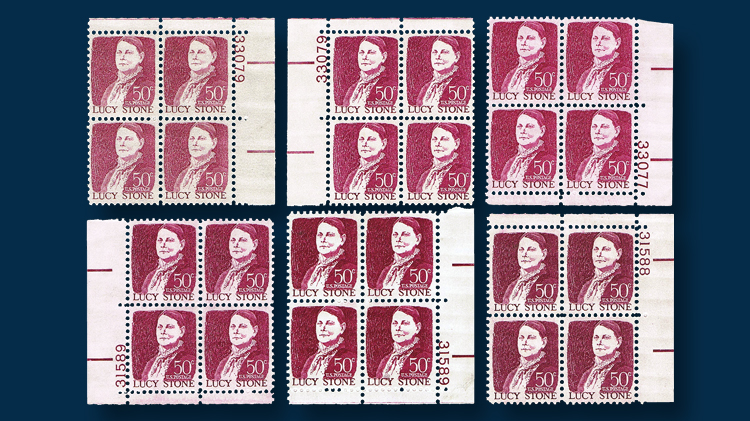 united-states-fifty-cent-lucy-stone-plate-blocks