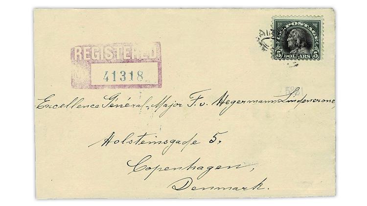 united-states-five-dollar-benjamin-franklin-registered-cover