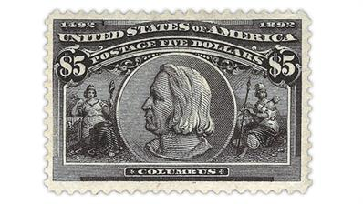 united-states-five-dollar-columbian-stamp