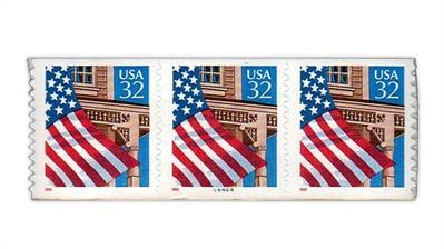 united-states-flag-over-porch-plate-number-44444-strip-scott 2915C