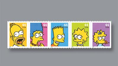 united-states-forty-four-cent-simpsons-stamps