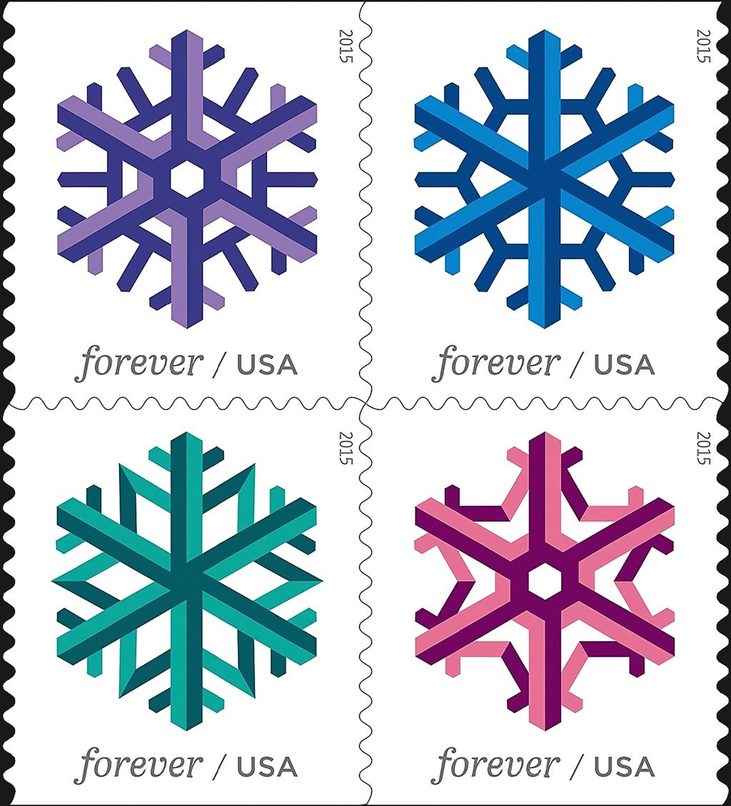united-states-geometric-snowflake-stamps-2015