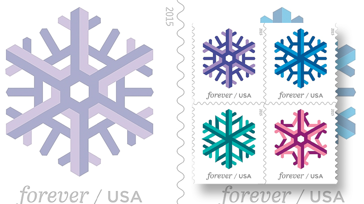 united-states-geometric-snowflakes-stamps-holiday-celebrations-2015