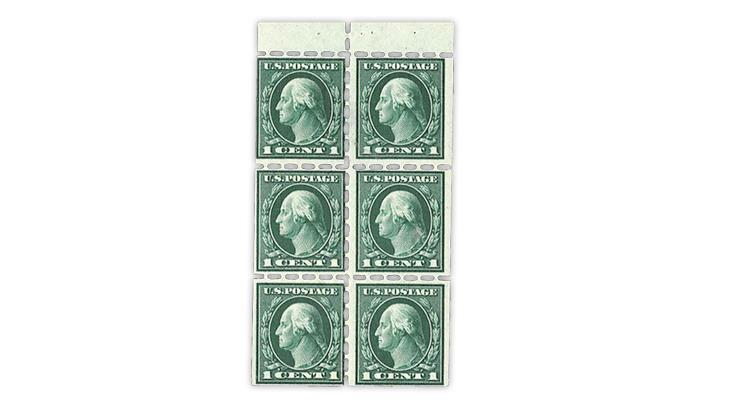 united-states-george-washington-booklet-pane-fake-perforations