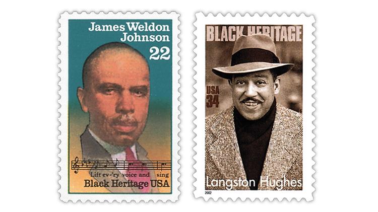 united-states-james-weldon-johnson-langston-hughes-stamps