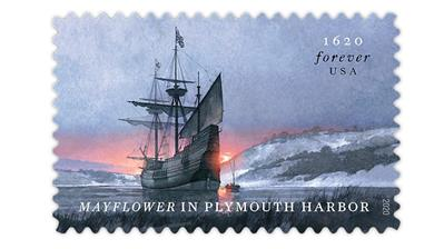 united-states-mayflower-plymouth-harbor-stamp