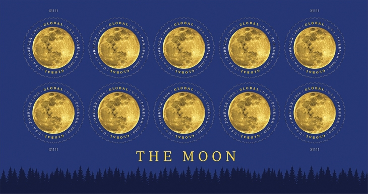 united-states-moon-global-forever-stamp-pane-selvage-treeline