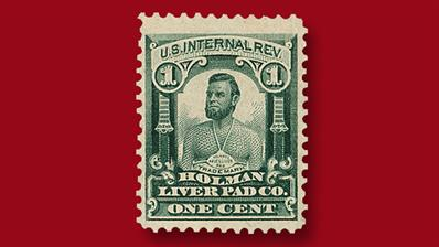 united-states-one-cent-four-cent-holman-liver-pad-co-revenue-stamp