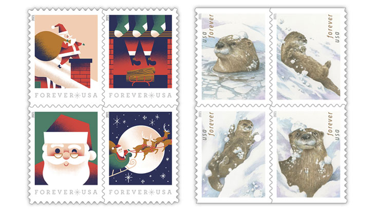 USPS reveals Christmas, Otter in Snow stamps - Linn's Stamp News