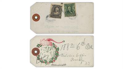 united-states-package-tag-martha-washington-benjamin-franklin-stamps