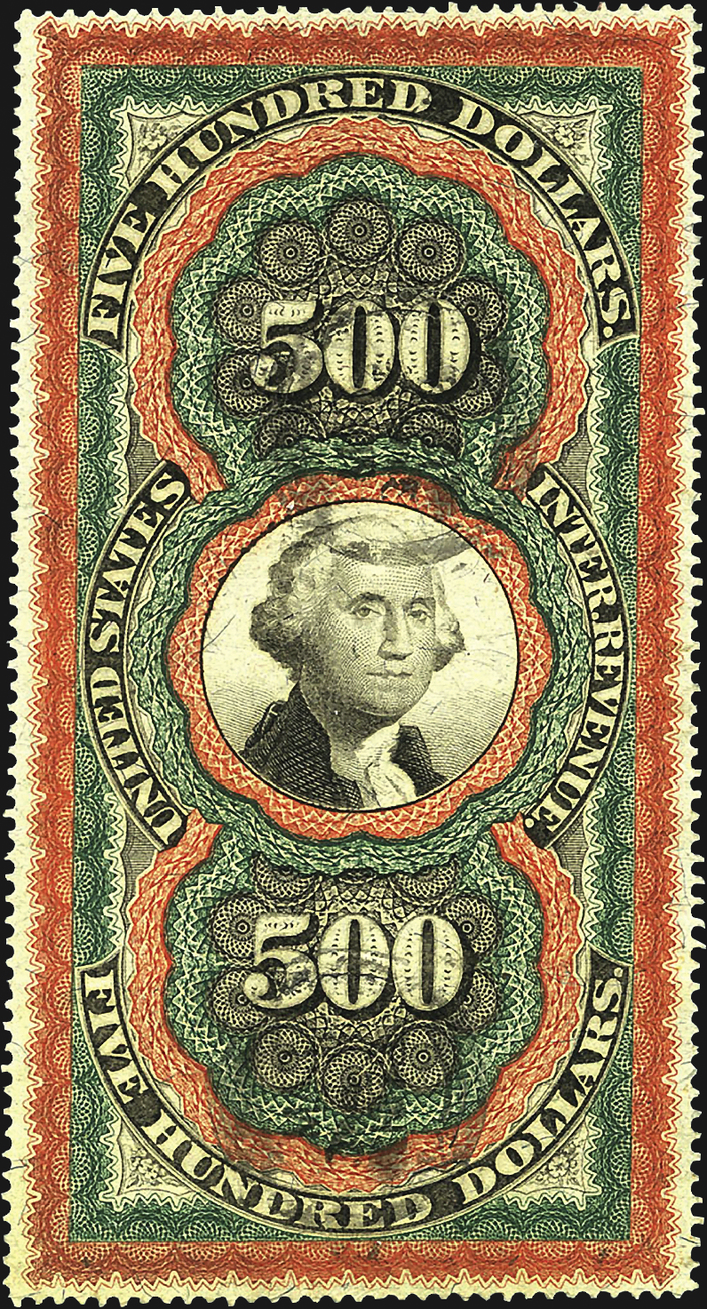 united-states-persian-rug-revenue-stamp-harmer-schau-auction-aps-stampshow