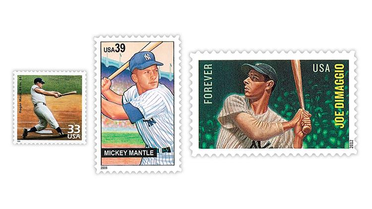 united-states-roger-maris-mickey-mantle-joe-dimaggio-stamps