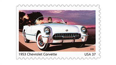 united-states-sporty-cars-1950s-stamp-1953-chevrolet-corvette