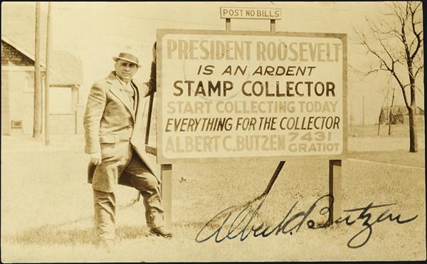 united-states-stamp-dealer-albert-butzen-postcard-1934
