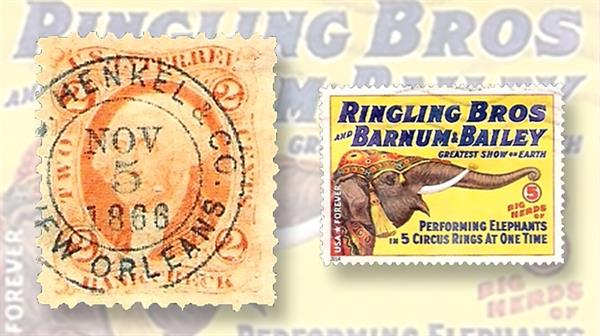 united-states-stamps-1866-revenue-2014-circus-poster