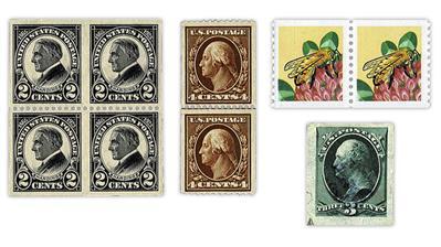 united-states-stamps-warren-harding-george-washington-honeybee-coil
