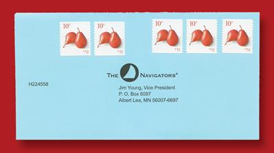 united-states-ten-cents-red-pears-definitive-coil-stamps