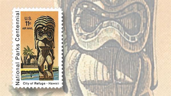 united-states-tiki-city-of-refuge-hawaii-stamp