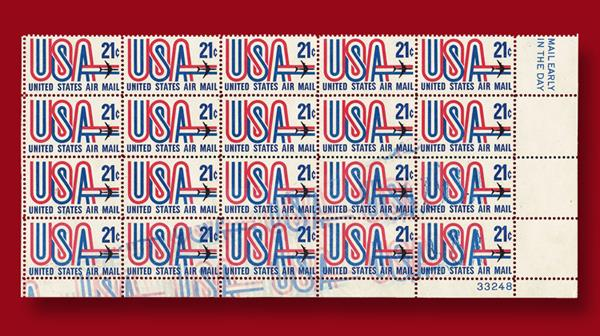 united-states-twenty-one-cent-airmail-block