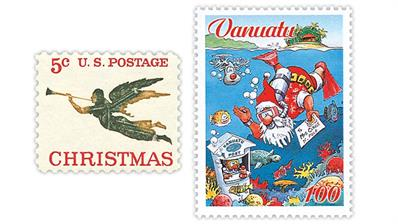 united-states-vanuatu-christmas-stamps