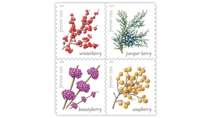 united-states-winter-berries-stamps