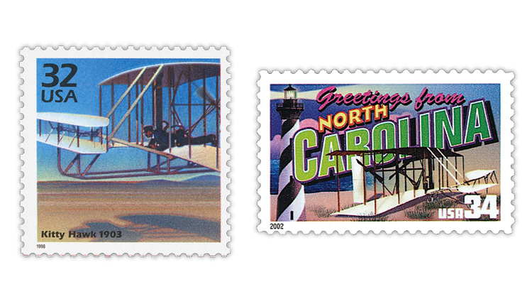 united-states-wright-brothers-plane-celebrate-century-greetings-america-stamps